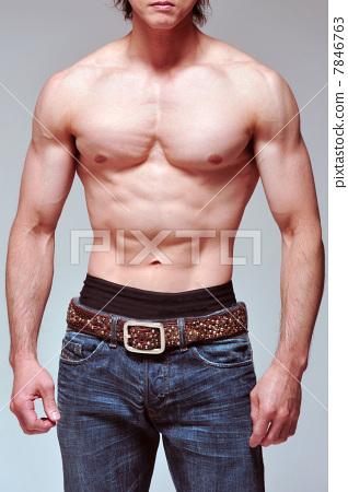 男人们 肌肉发达的-图库照片