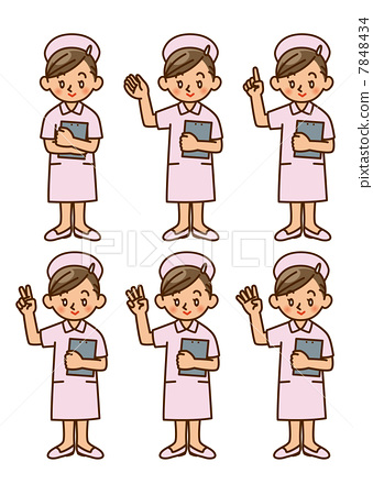 插图素材: 护士 人 人物