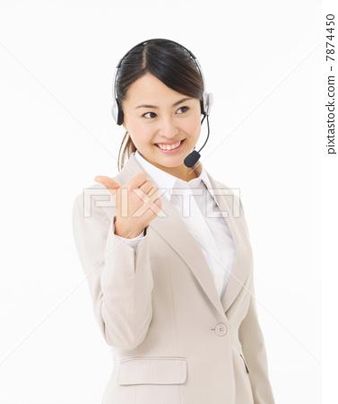 女企业家 女企业家 事业女性 电话销售员  授权信息此素材有模特摄影