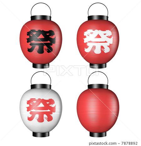 图库插图: 庙会 祭典 纸灯笼
