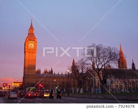 大本钟 夕阳红 英国