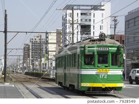 堺gfyl�L�/&:am�xn�)_图库照片: 阪堺电気轨道 电车轨道 有轨电车