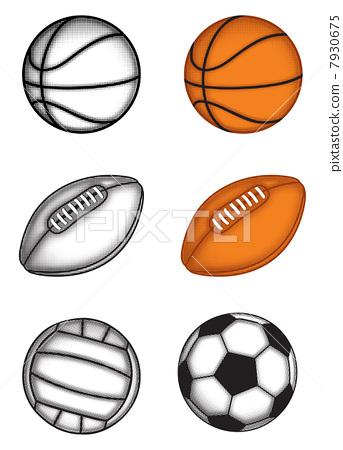 排球 矢量图 stock 插图