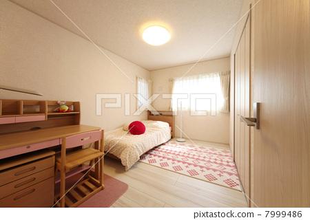 卧室 孩子的房间 新生活-图库照片