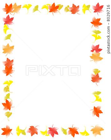 秋天颜色 边框 框架