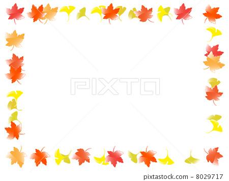 插图: 秋天颜色 边框 边界