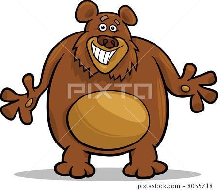 手绘彩铅可爱棕熊