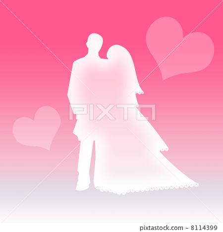 婚礼 剪影 侧影