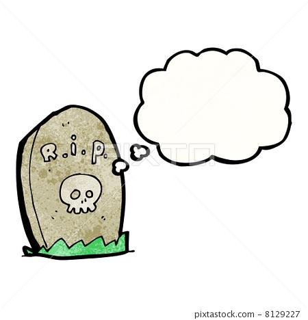 墓碑动漫手绘图