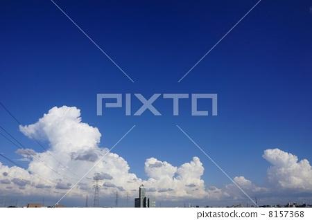 积雨云 蓝天 首页 照片 天空 蓝天 雷云 积雨云 蓝天  *pixta限定素材