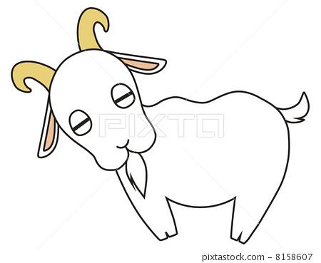 山羊简笔画 步骤