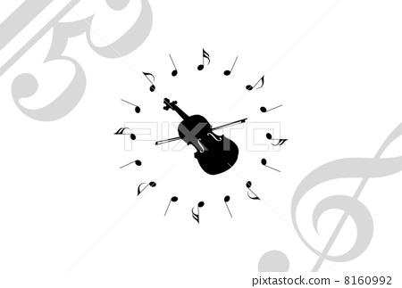 音符 笔记 小提琴图片