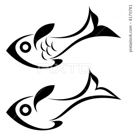 画鱼的点线画步骤