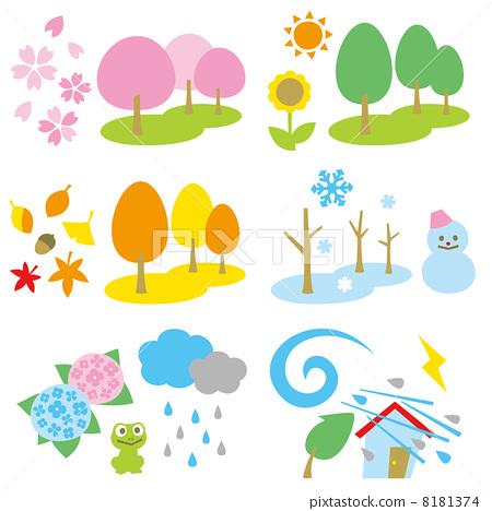 图库插图: 四季 矢量 季节
