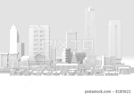 街道(店铺和房屋) 模特 透视画