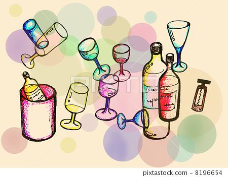 插图 日用品 餐具 红酒杯 红酒杯 酒杯 葡萄酒杯  *pixta限定素材仅在