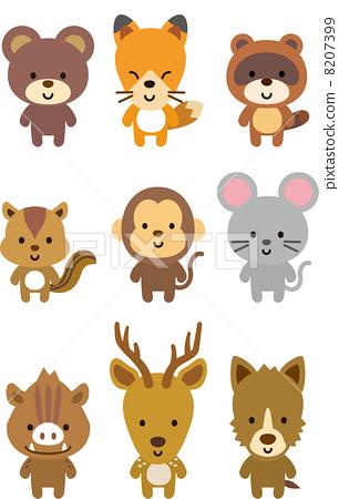 插图 工艺品 动物 动物 熊的幼崽 吉祥物