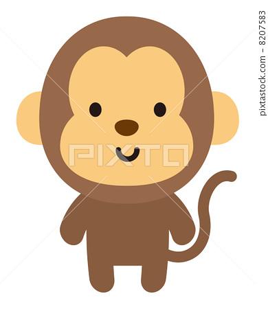 图库插图: 矢量 猴子 一只