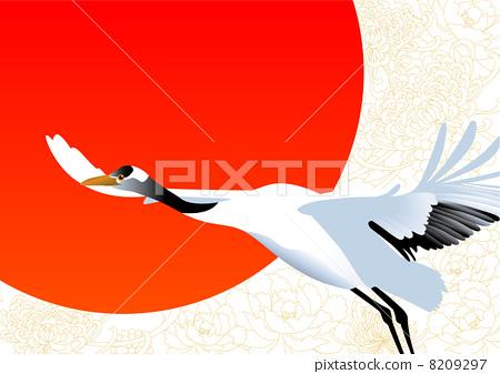 插图素材: 鹤 简约 简单