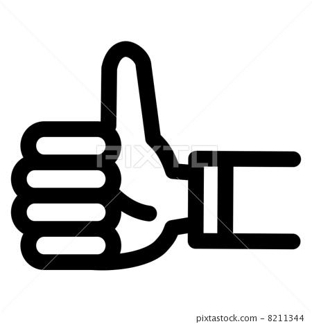 插图素材: 赞赏 干得好 大拇指