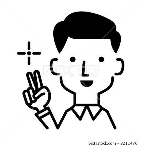手 胜利手势 和平标志