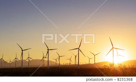 图库照片: 发电机 风车 风力涡轮机图片