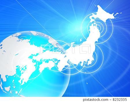 地球 日本地图 地图