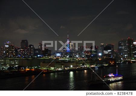 夜景 东京铁塔 红色