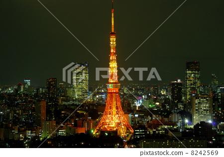 东京铁塔 东京塔 夜景
