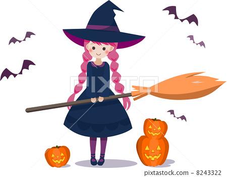 插图素材: 万圣节 魔术师 女巫