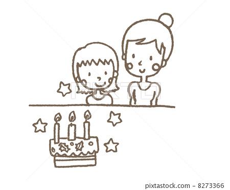 儿童 木乃伊 生日蛋糕