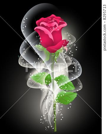 插图素材: rose and smoke
