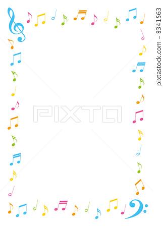 图库插图: 笔记 音符 装饰门框