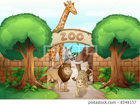 图库插图: a zoo and the animals