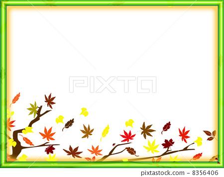 秋天 边框 边界