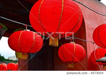 纸灯笼 中国灯笼 光线-图库照片