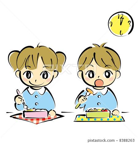 图库插图: 矢量 便当 午餐盒
