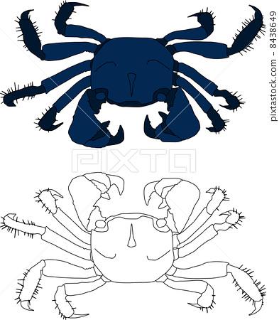 图库插图: 矢量 螃蟹 蟹