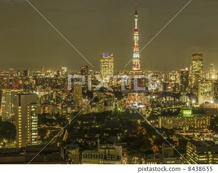 夜景 城市 东京塔