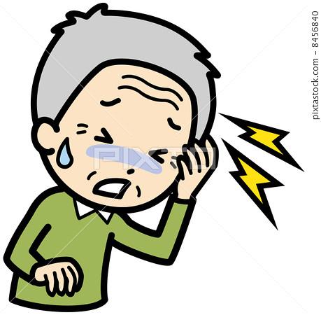 图库插图: 头疼 头痛 矢量