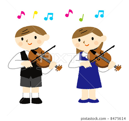儿童 男孩们 小提琴