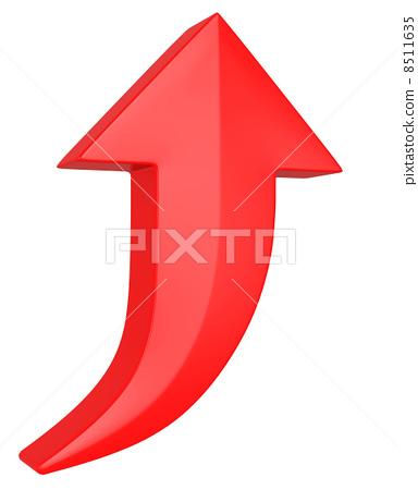 插图 文字_记号 记号_记号 箭头 向上 面向上 箭头  *pixta限定素材仅