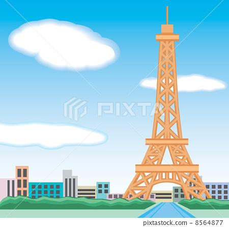 插图素材: 钢塔 电缆塔 埃菲尔铁塔