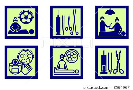 插图素材: 操作的 手术室 手术