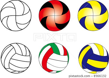排球logo矢量图