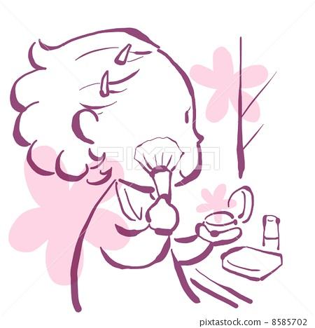 插图素材: 化妆 简约 简单
