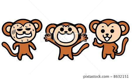 猴子 矢量图 矢量