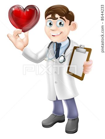 心脏病专家 stock 插图