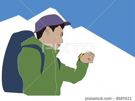 徒步旅行 手表 爬山