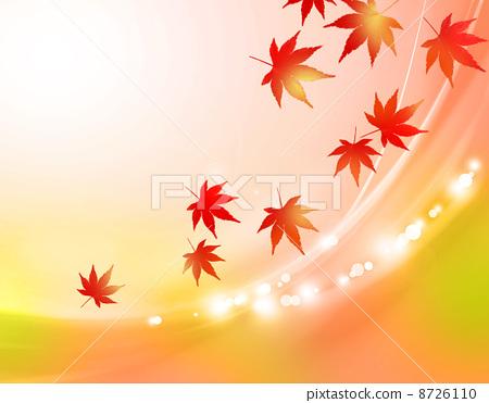 秋景彩色简笔画